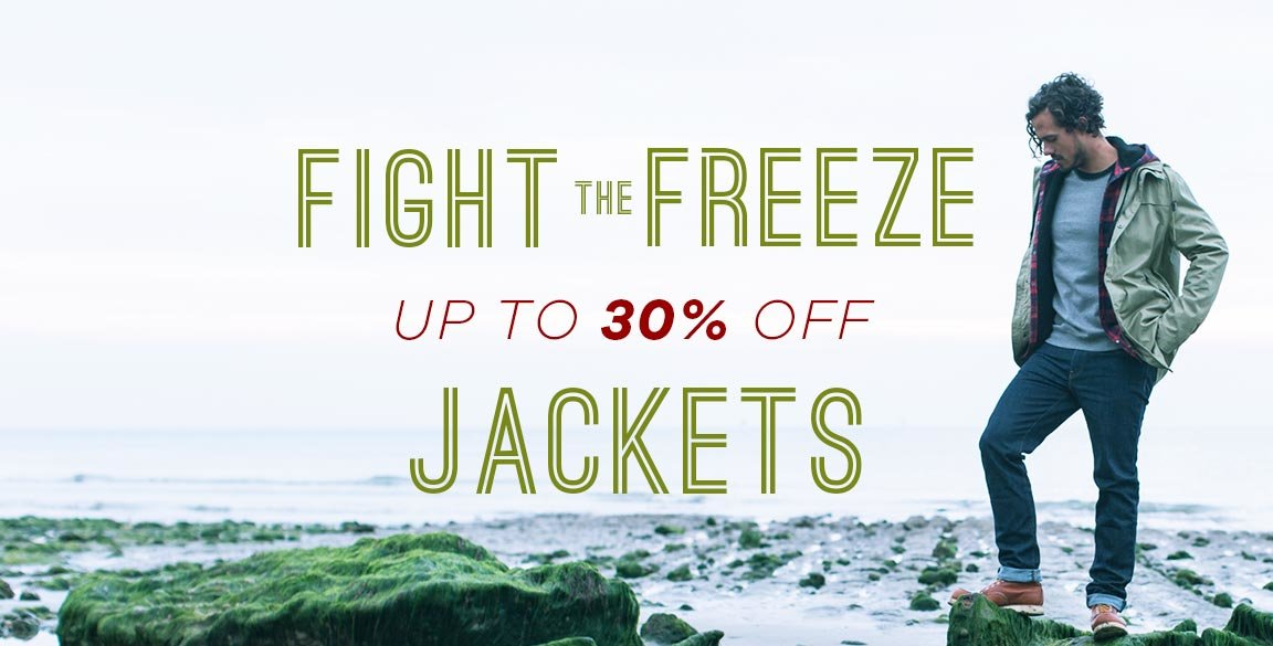 fight the freeze - 30% off jackets